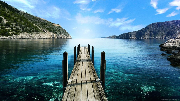 mountain-lake-dock