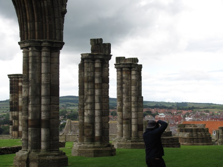 Whitby Abby Ruins and a Photographer
