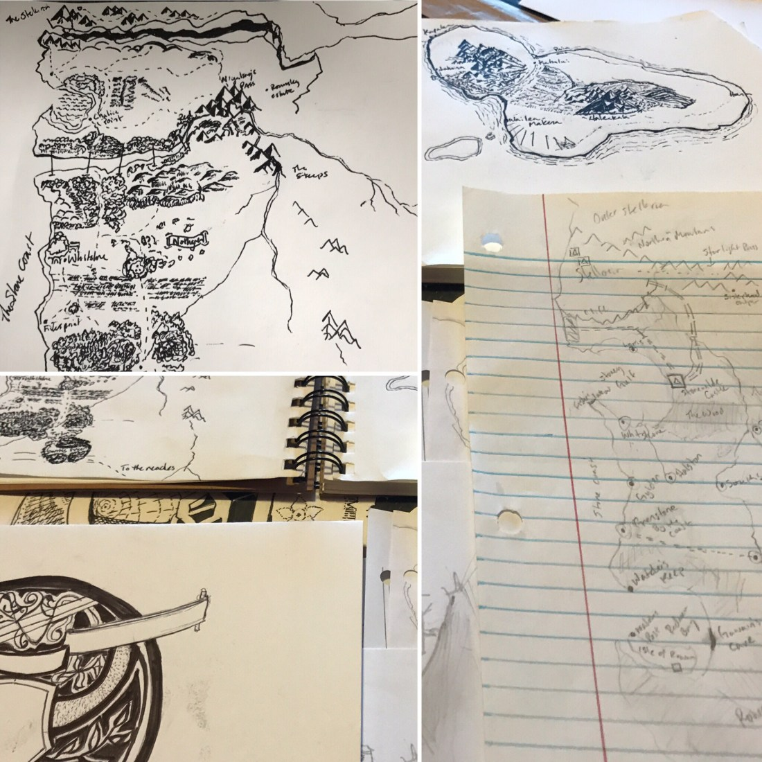 Early sketches and inspirations