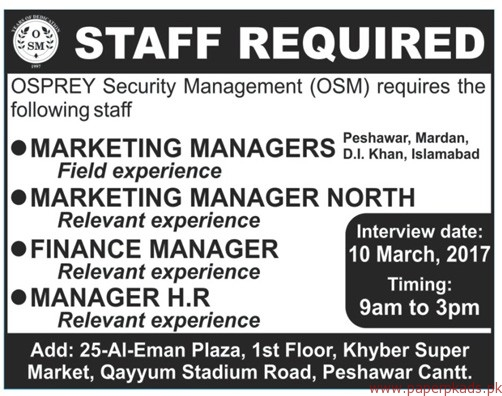Management Positions Security