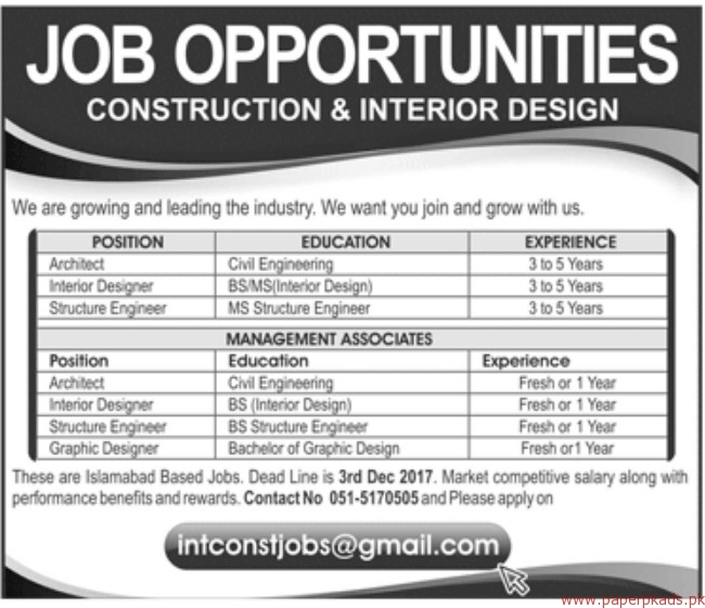 Construction interior design jobs for Building design jobs