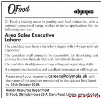 OI Food Industry Jobs 2019 Latest
