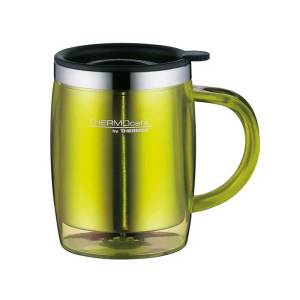 Stainless-Steel-with-Plastic-Cover-Desktop-Mug-350ml-Lime-Green