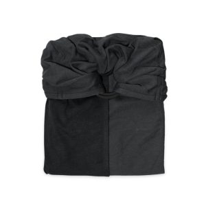 Little Baby Wrap Without A Knot Charcoal Grey Black