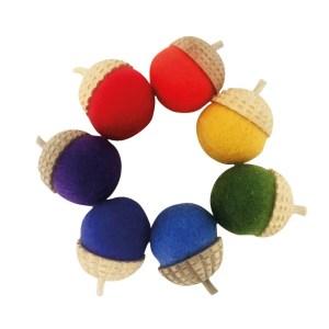 Rainbow Acorns 7 pcs