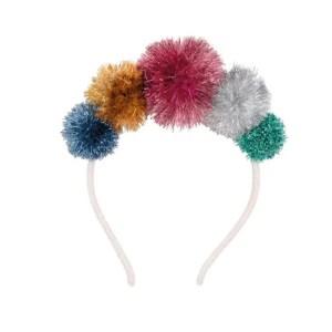 Meri Meri Multi Tinsel Pom Pom Crown