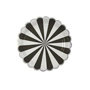 Meri Meri Toot Sweet Black Stripe Small Plates