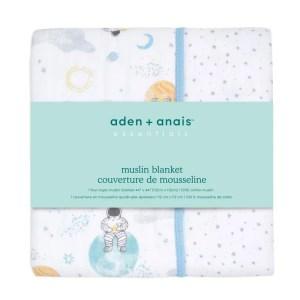 Aden + Anais Essentials Muslin Single Blanket Space Explorers