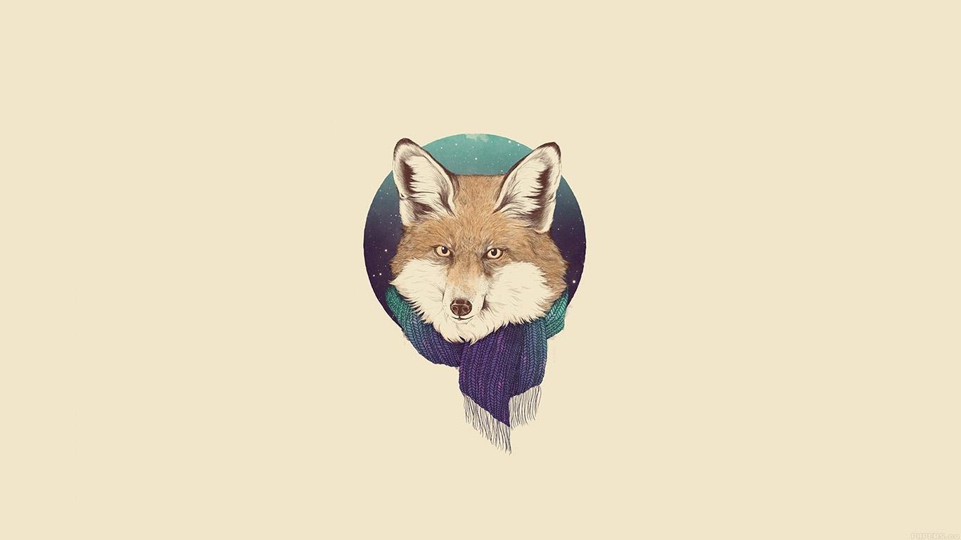 Wallpaper For Desktop Laptop Aj65 Little Fox Winter