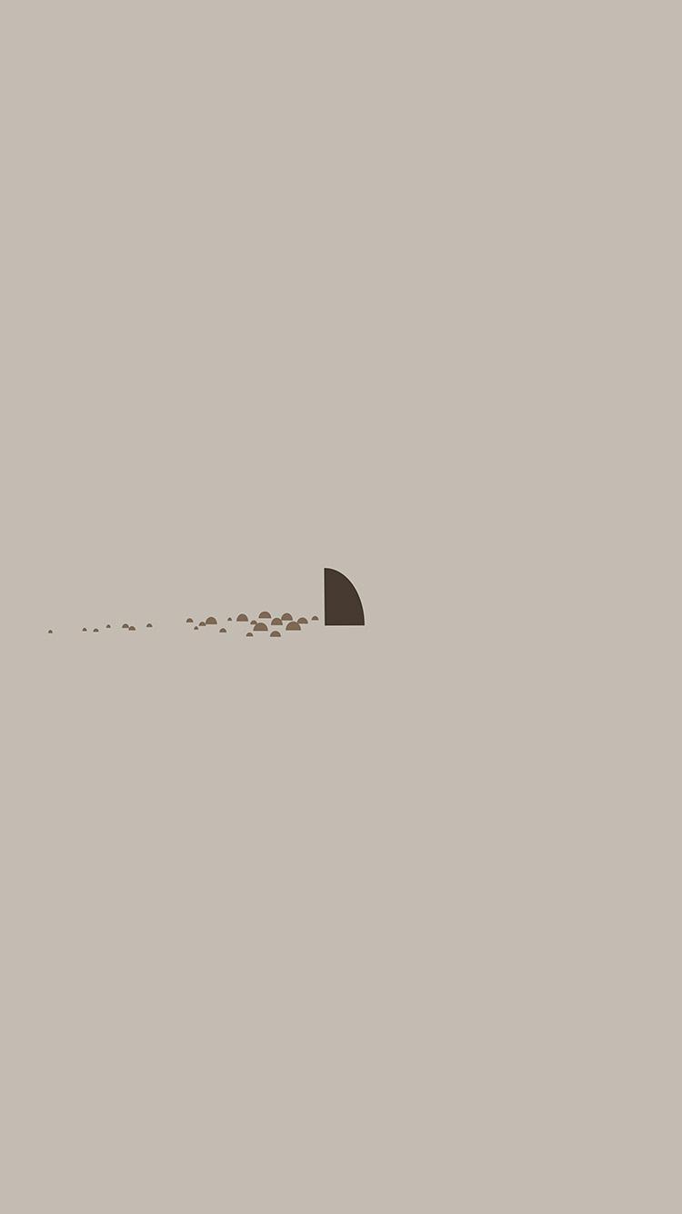 An33 Minimal Simple Shark Sea Illust Art Cute Wallpaper