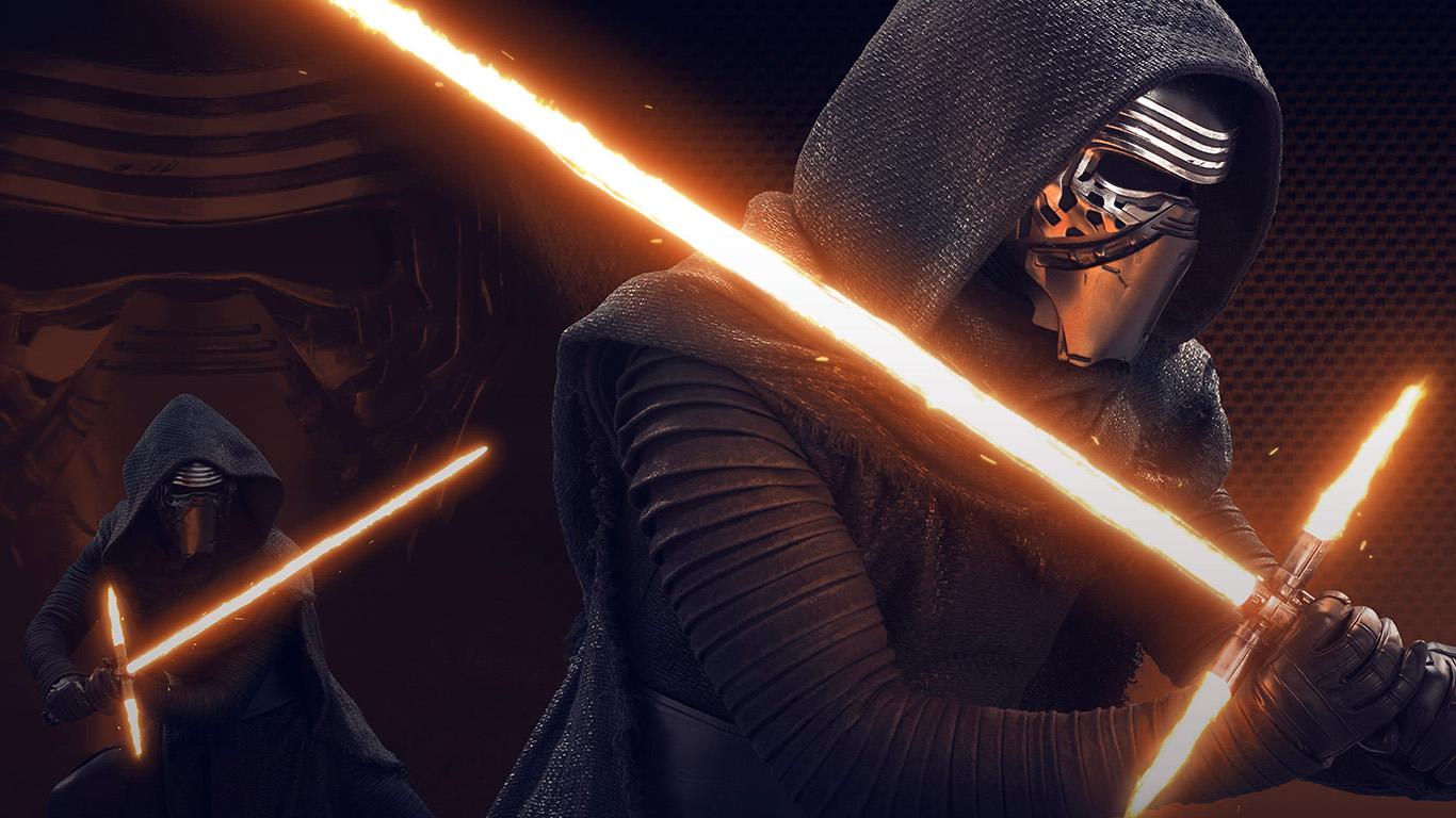 At11 Starwars Kylo Ren Dark Orange Lightsaber Art