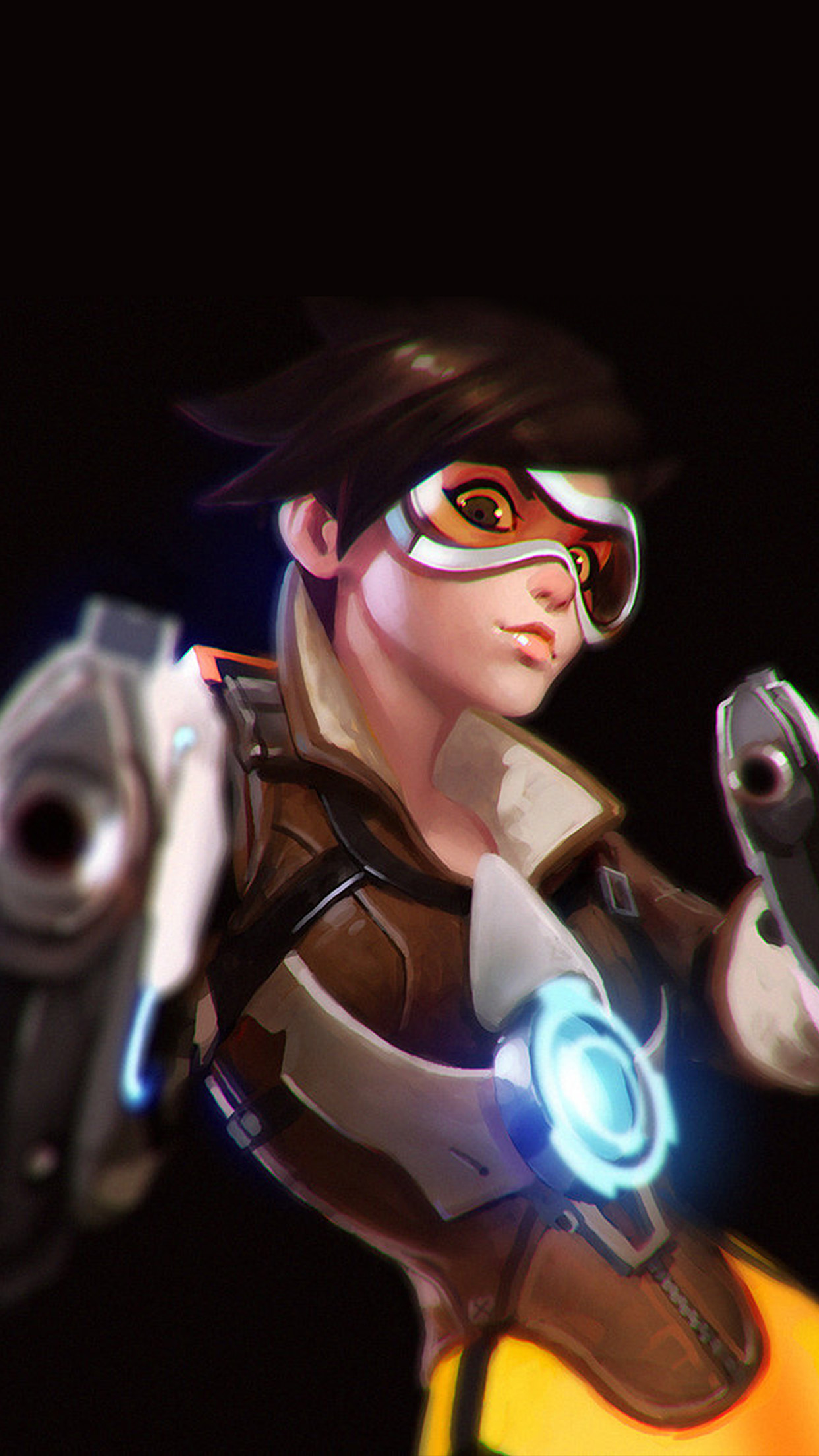 Ay35 Ilya Kuvshinov Overwatch Tracer Hero Game Illustration Art Wallpaper