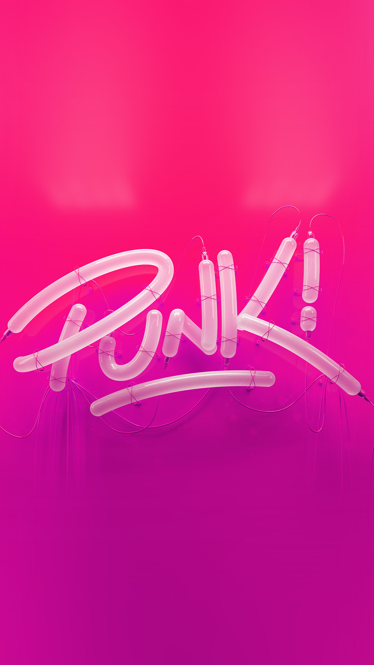 Ay77 Punk Neon Sign Art Minimal Illustration Art Red Wallpaper