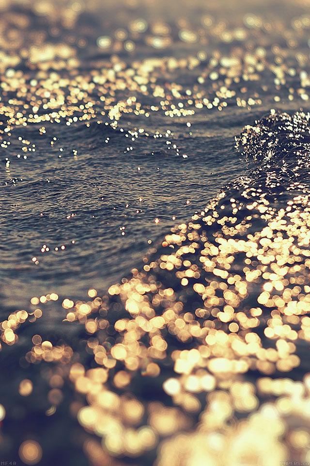 Mf40 Gold Sea Water Sunset Ocean