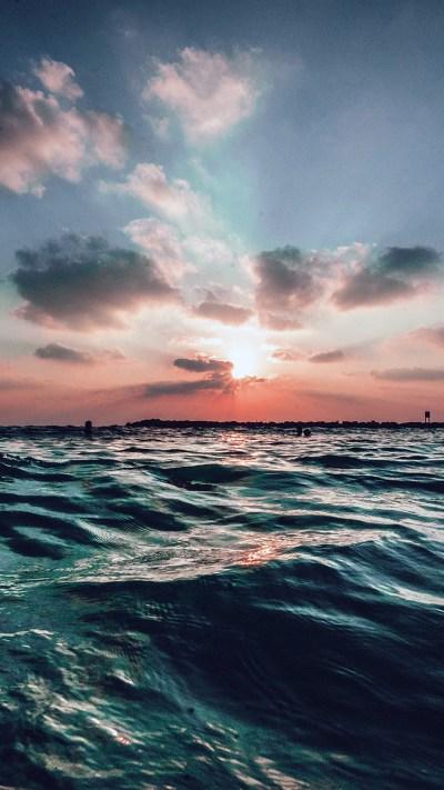 nf44-sunset-sea-sky-ocean-summer-blue-water-nature-wallpaper