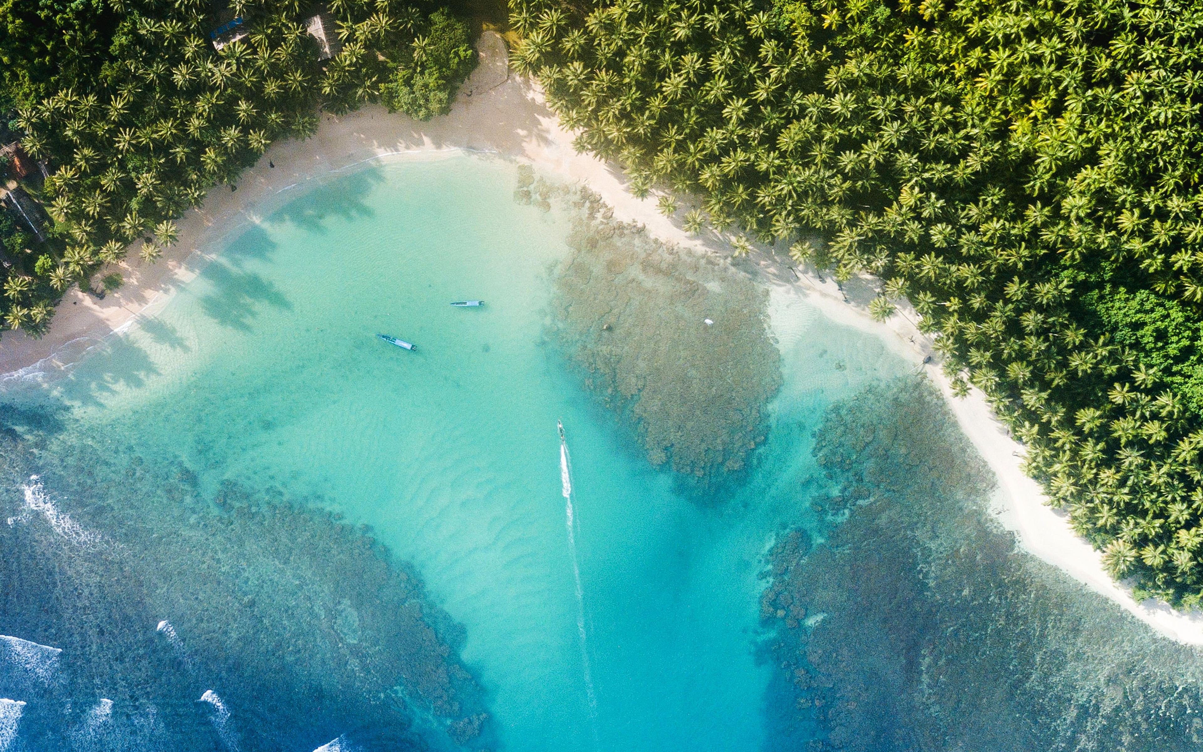 Nu19 Beach Sea Summer Nature Earthview Wallpaper