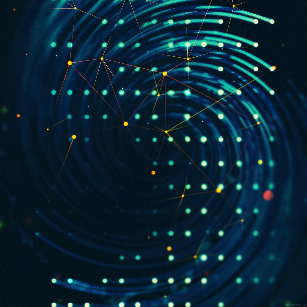Vg01 Spiral Lights Graphic Digital Art Blue Pattern