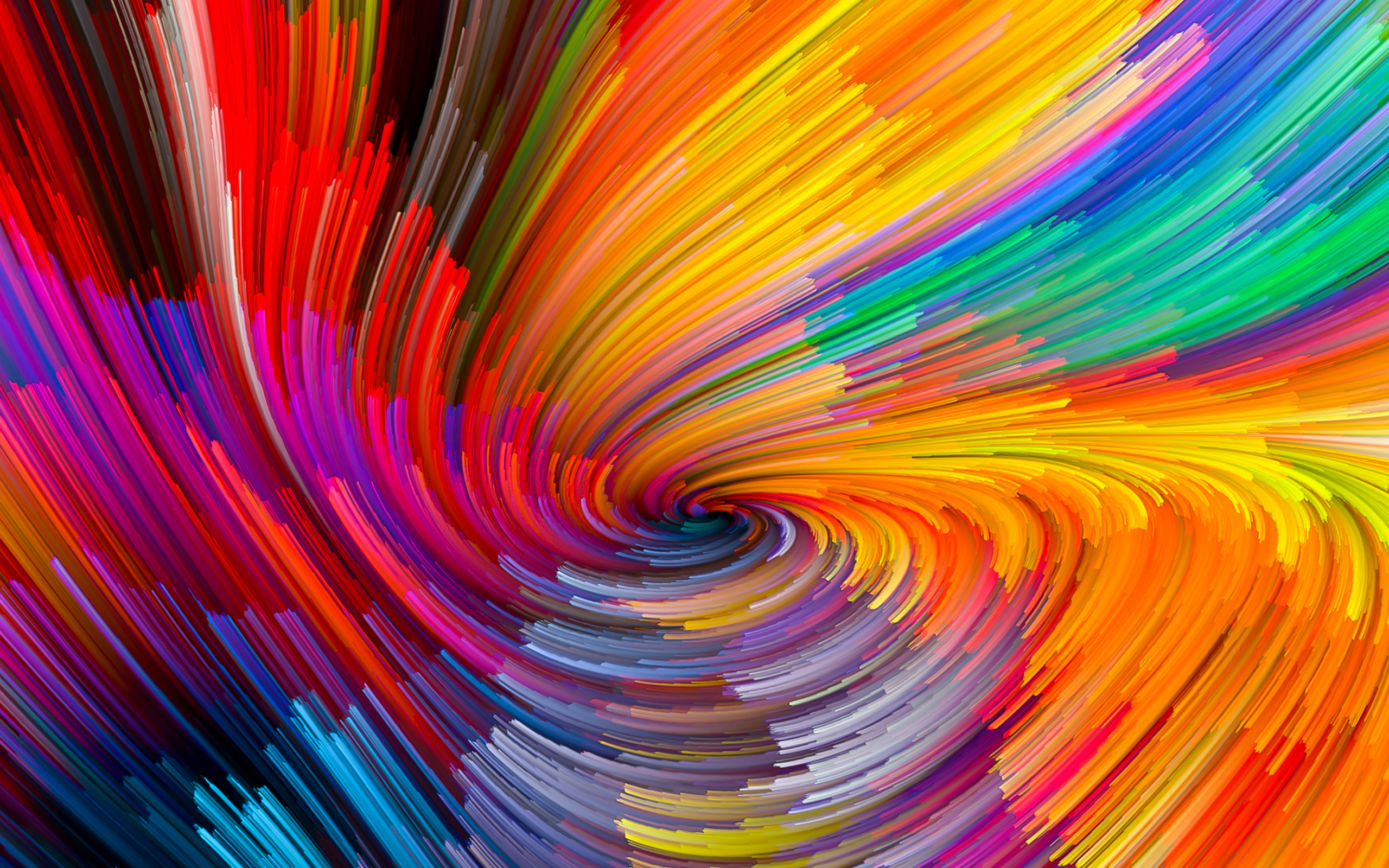 Vy10 Digital Abstract Line Color Rainbow Pattern