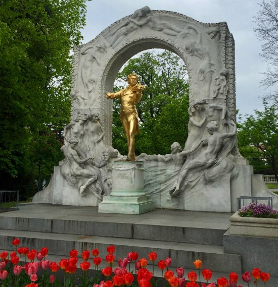 Johann Strauss statue Vienna Austria