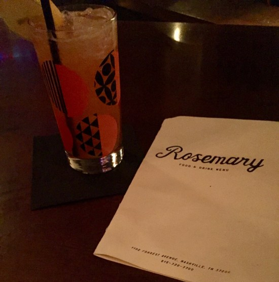 Rosemary cocktail Nashville Tennessee