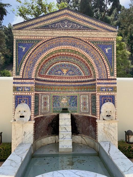 Pompeii fountain replica, Getty Villa