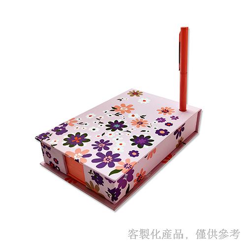 便條紙筆組合磁扣盒