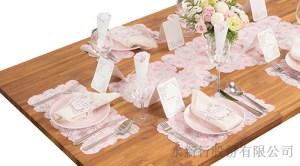 餐巾束帶粉色派對商品-派對商品,1