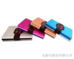 A6金蔥膠裝筆記本(3本入),2