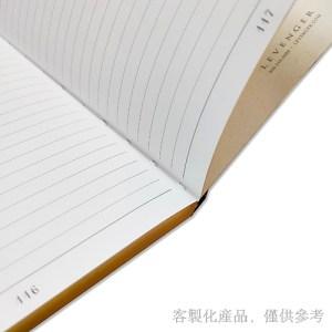客製化燙金邊縫線筆記本,2
