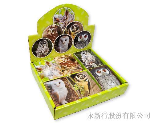 動物便條系列貓頭鷹便條紙-動物便條紙M-14434