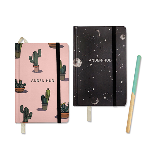 Customized Sewn Binding Notebook with Pencil