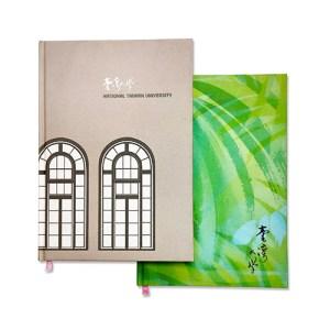 客製化燙絹布精裝縫線筆記本-絹布精裝筆記本-1