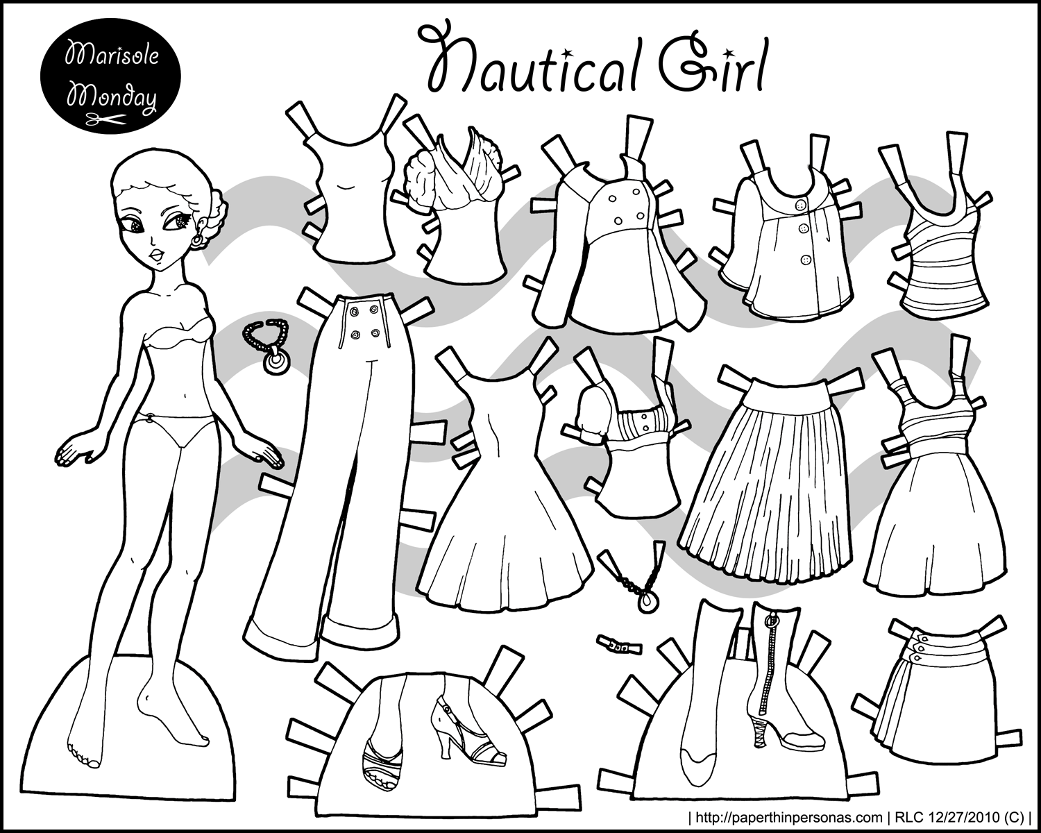 Black And White Marisole Monday Paper Dolls Today
