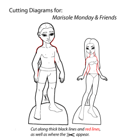 Cutting Diagram for Marisole & Friends