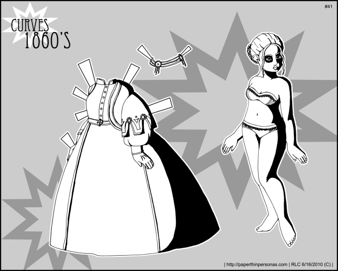 1860s Curves paper Doll