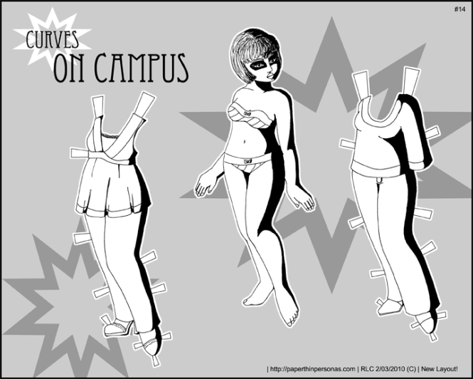 Curves on Campus paper doll