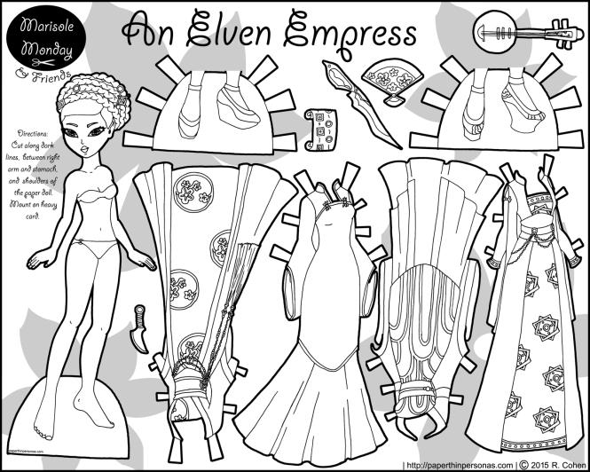 elven-empress-paper-doll-bw