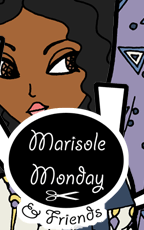 Marisole Monday & Friend's Logo. Fantasy paper doll.