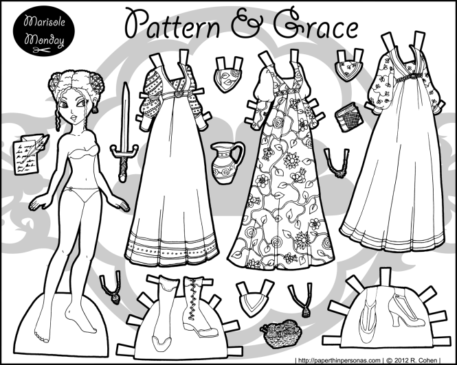 pattern_grace_marisole_printable_paper_doll