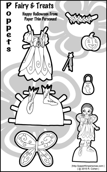 poppet-halloween-paper-doll-fairy-bw