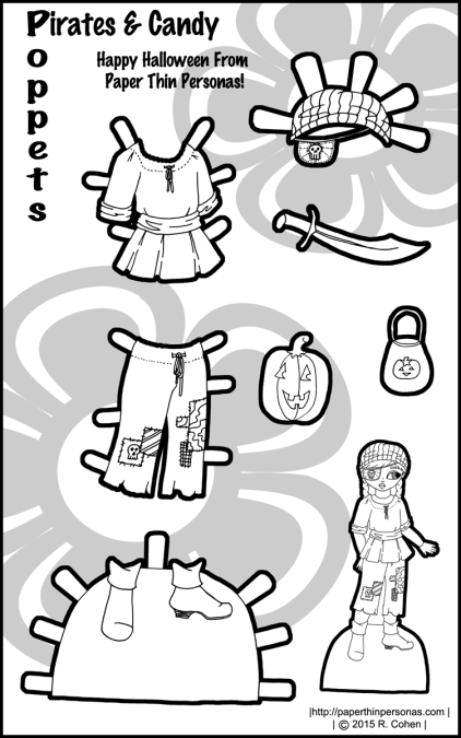 poppet-halloween-paper-doll-pirate-bw