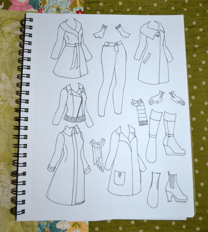 Coats! It has been a while since I did a set of coats.