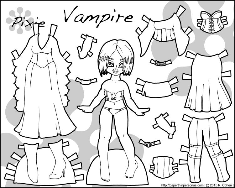 vampire-pixie-halloween-paper-doll-bw