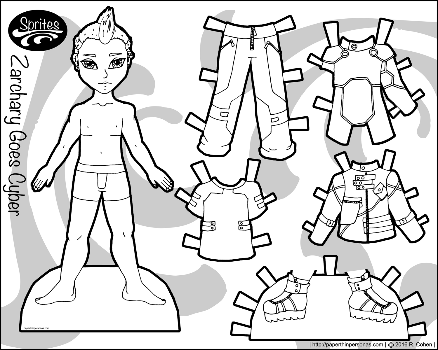 Adaptable image with paper doll printable