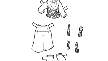 A Coloring Page Printable Men S Fantasy Paper Doll Clothing