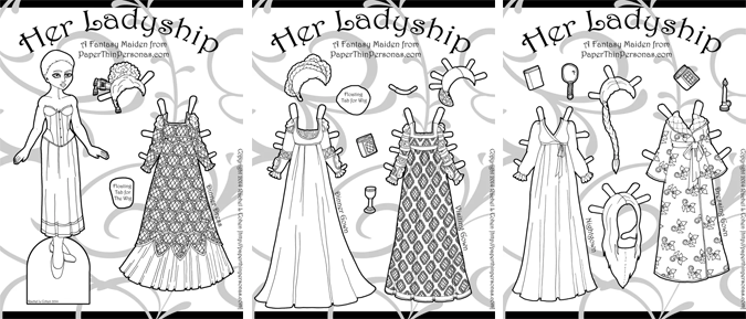 Four Of My Favorite Paper Dolls You Can Color
