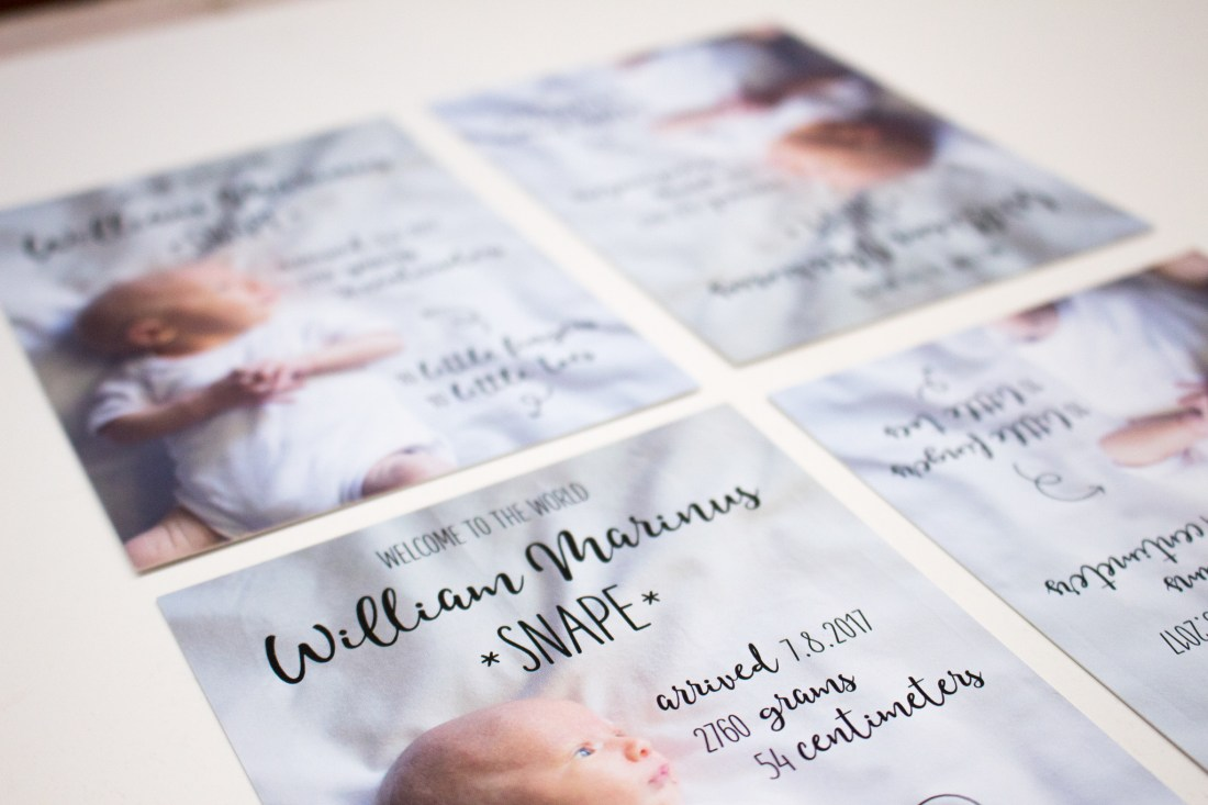 baby whale birth announcement design