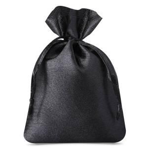 Woreczek na pendrive – welurowy czarny – 8x10cm