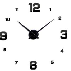 Zegar ścienny naklejany DIY 70-130cm czarny