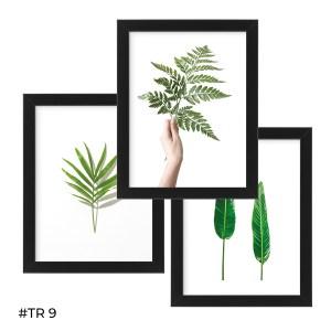 Tryptyk plakatów w ramie – Listki natury – #TR 09